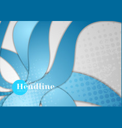 abstract blue grunge dotted waves corporate vector image