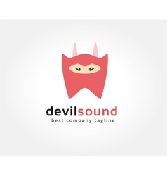 Abstract devil character logo icon concept vector image