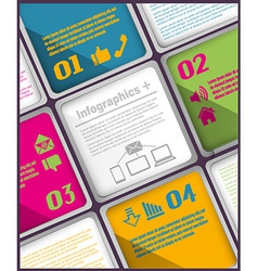 Abstract inforgraphic template vector