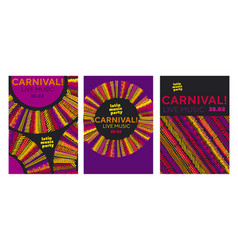 abstract latin music carnival poster vector image
