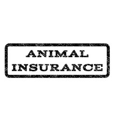 Animal insurance watermark stamp vector