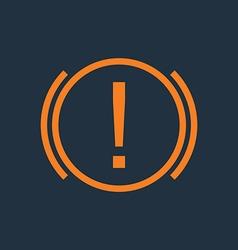 Attention Car Warning vector