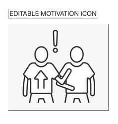 Attitude motivation line icon vector