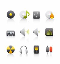 audio equipment icons vector image