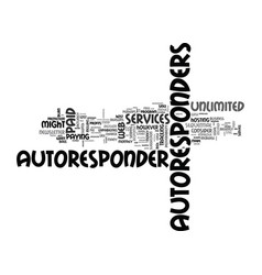 Autoresponder services improve your profits text vector