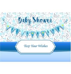 Baboy shower invitation card design template vector