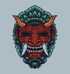 Barong balinese culture artwork with detailed vector