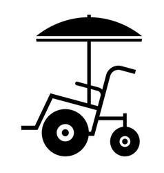 beach wheelchair vector image