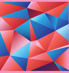 beautiful color from geometric polygons vector image
