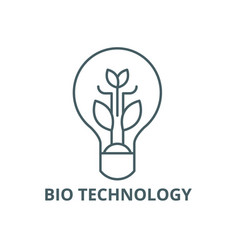 bio technology line icon bio technology vector image