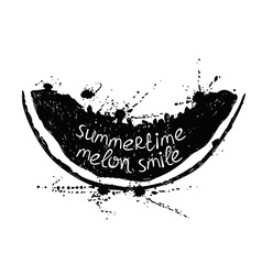 Black and white with slice of melon vector image