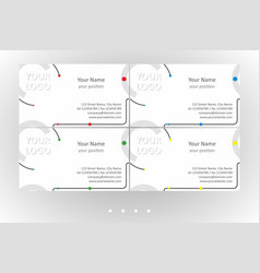 Bright business card templates set vector