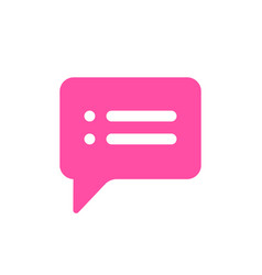bubble chat message text icon vector image