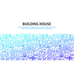 building house concept vector image