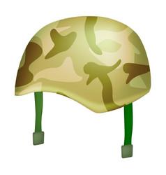 camo helmet mockup realistic style vector image