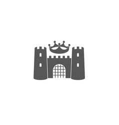 castle with crown logo vector image