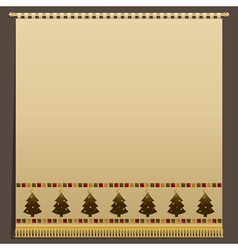 Christmas wall hanging vector