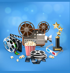 Cinema realistic background vector