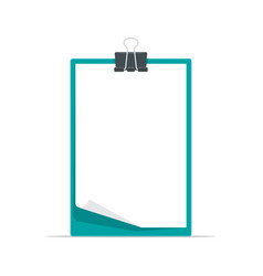 clipboard with blank a4 white paper vector image