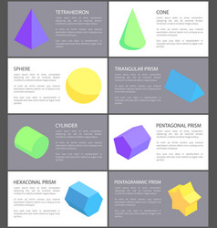 Cone sphere cylinder and tetrahedron geometric set vector