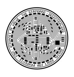 Crypto coin empty vector