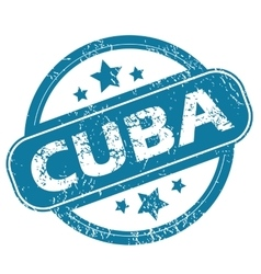 CUBA round stamp vector