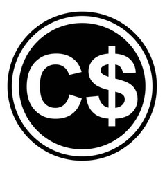 currency symbol canada canadian dollar vector image