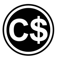 currency symbol canada canadian dollar vector image vector image