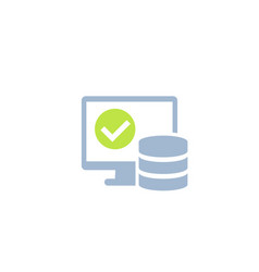 Database and computer icon vector
