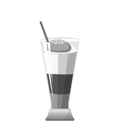 delicious ice coffee isolated vector image