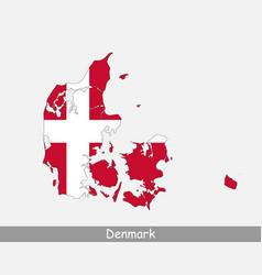 Denmark map flag vector
