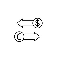 dollar euro arrows icon element of finance signs vector image