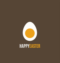 easter egg simple design background vector image