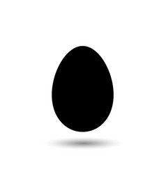 easter egg simple icon black egg isolated on vector image