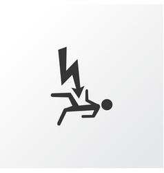 Electrocution hazard icon symbol premium quality vector