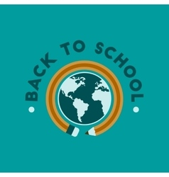 flat icon on background Back to school globe vector image
