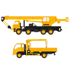 flat of set crane vector image