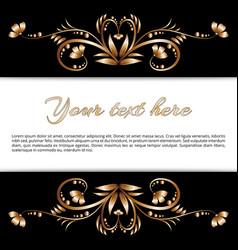 frame of gold floral motifs vector image