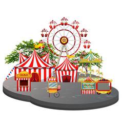 Fun fair scene white background vector