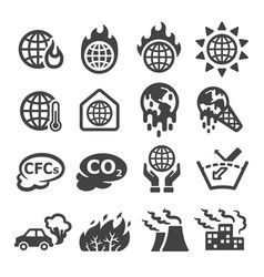 global warming icon vector image