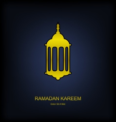 Golden Fanoos on Dark Background for Ramadan vector