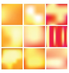 gradient backgrounds in gold and red colors vector image