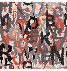 Grunge letters seamless tile vector