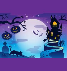 halloween topic background 3 vector image