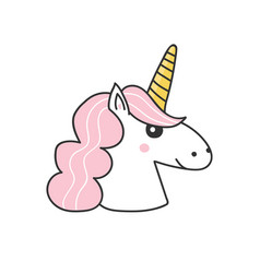 hand drawn unicorn vector image