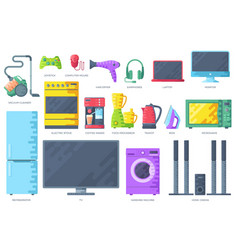 home electronics appliances infographics templat vector image