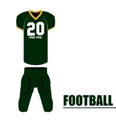 Isolated football uniform vector
