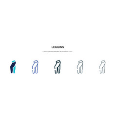 leggins icon in different style two colored vector image