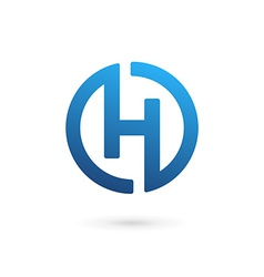 Letter h logo icon design template elements vector