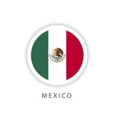 Mexico circle flag template design vector